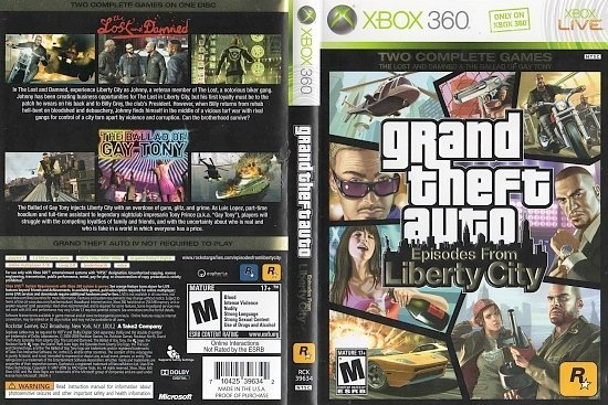 dvd cover Grand Theft Auto: Episodes from Liberty City (2009) NTSC