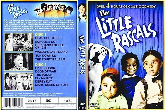 dvd cover The Little Rascals R1