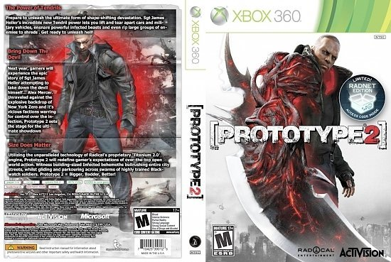 dvd cover Prototype 2