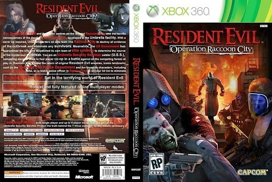 dvd cover Resident Evil Operation Raccoon Ciity