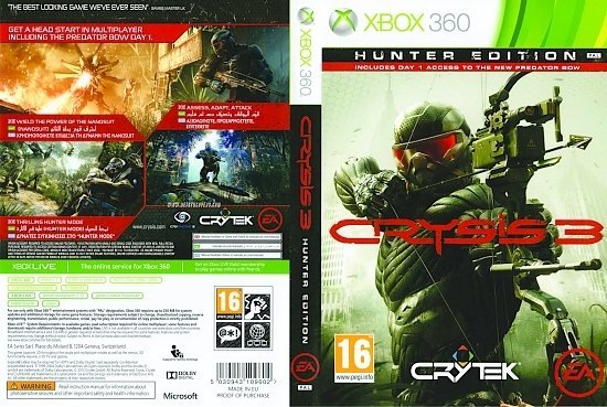 dvd cover Crysis 3 Hunter Edition PAL