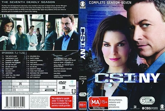 dvd cover CSI NY: Complete Season 7 (2010-2011) R4