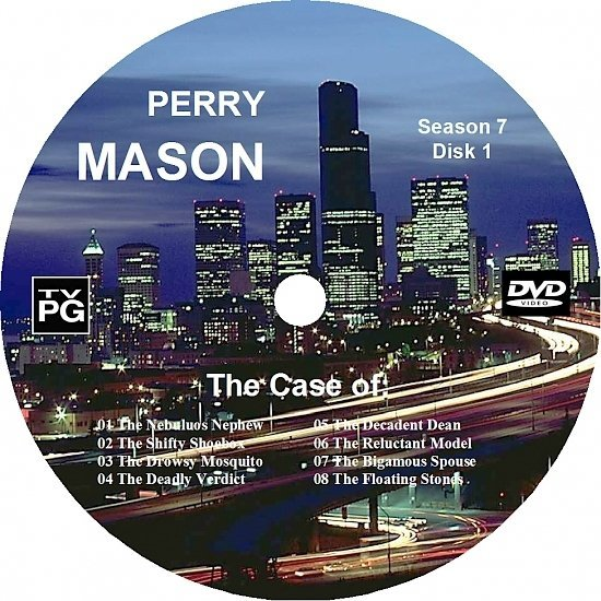 dvd cover Perry Mason Complete Season 7 Custom DVD Labels