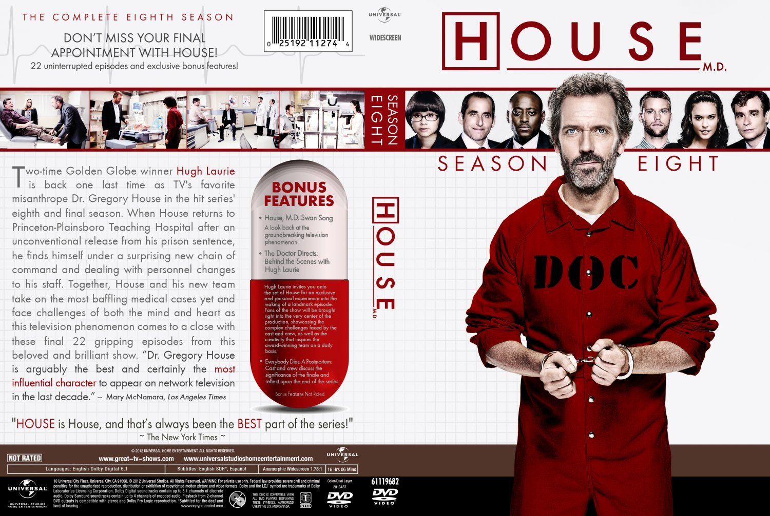 House md season 8 dvd covers and labels for House md music