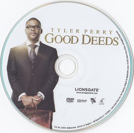 dvd cover Good Deeds WS R1