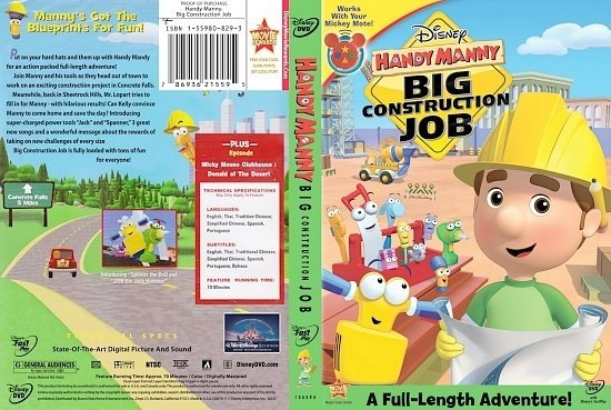 dvd cover Handy Manny Big Construction Jo
