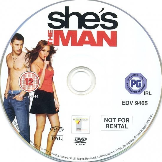 dvd cover She's The Man (2006) R2