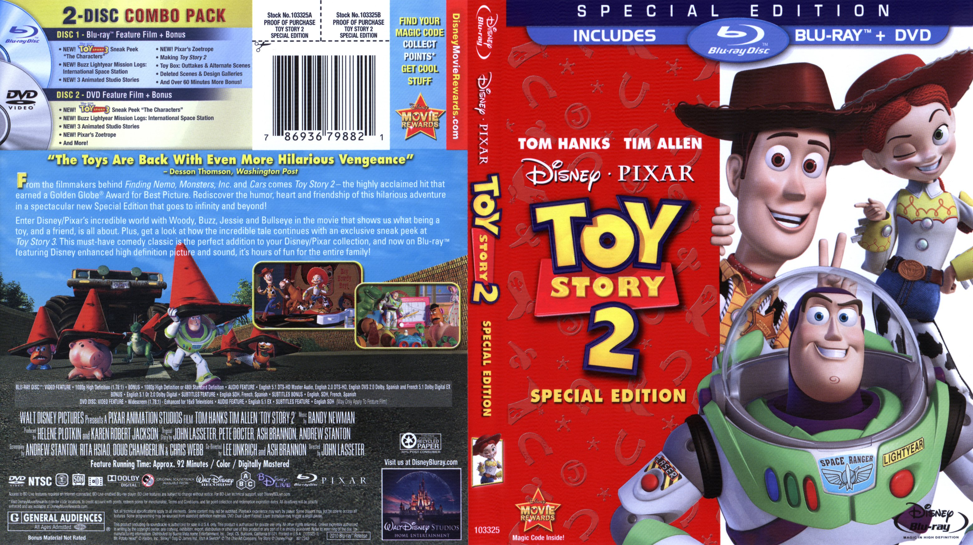 Toy Story 2 1999 Blu Ray Dvd Covers And Labels