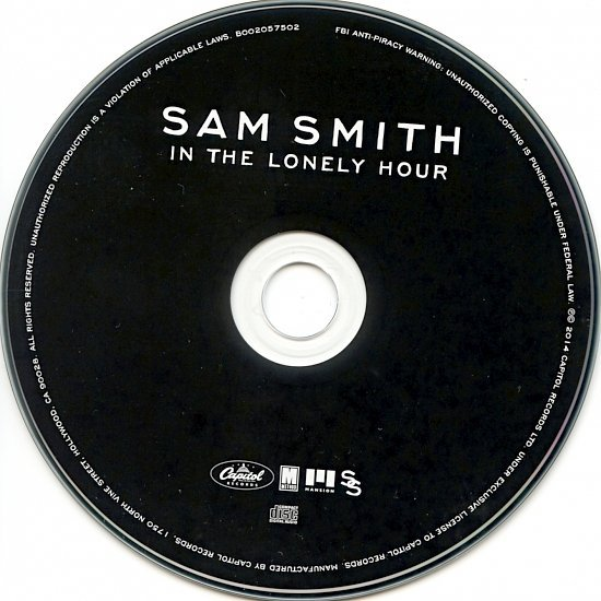 dvd cover Sam Smith - In The Lonely Hour (16 Tracks)