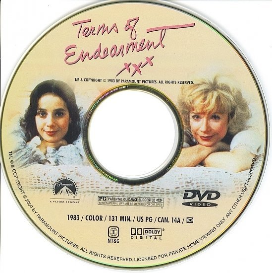 dvd cover Terms of Endearment (1983) WS R1