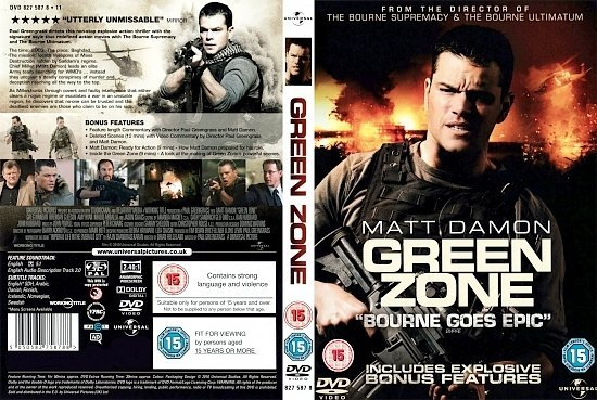 dvd cover Green Zone (2010) R2