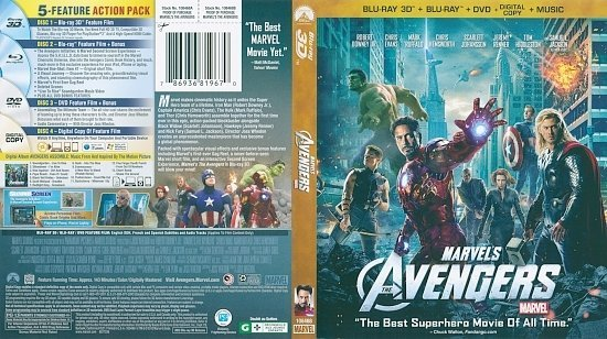 dvd cover The Avengers 3D Blu-Ray