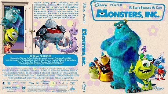 dvd cover Monsters, Inc.