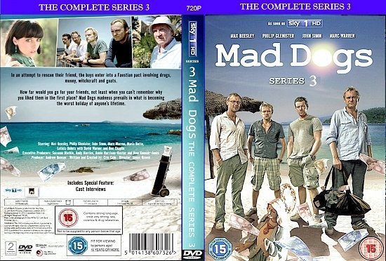 dvd cover Mad Dogs Series 3 R2 CUSTOM