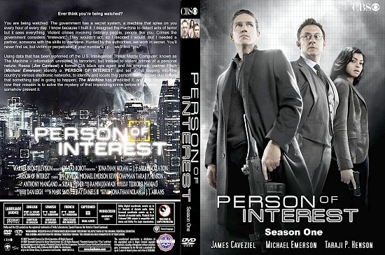dvd cover Person Of Interest: Season One (2011) R1