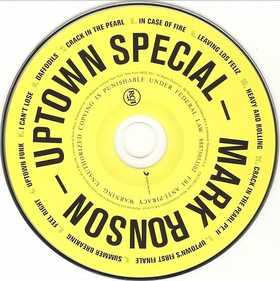 dvd cover Mark Ronson - Uptown Special