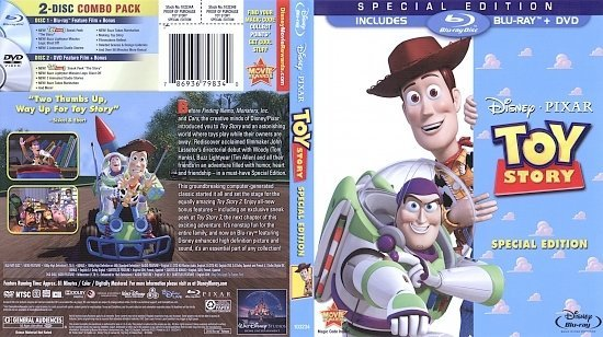 dvd cover Toy Story (1995) Blu-Ray