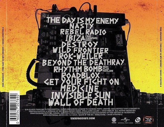 dvd cover Prodigy - The Day Is My Enemy