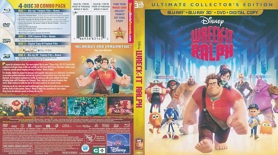 dvd cover Wreck-It Ralph 3D Blu-Ray
