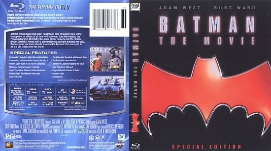 dvd cover Batman: The Movie (1966) Blu-Ray