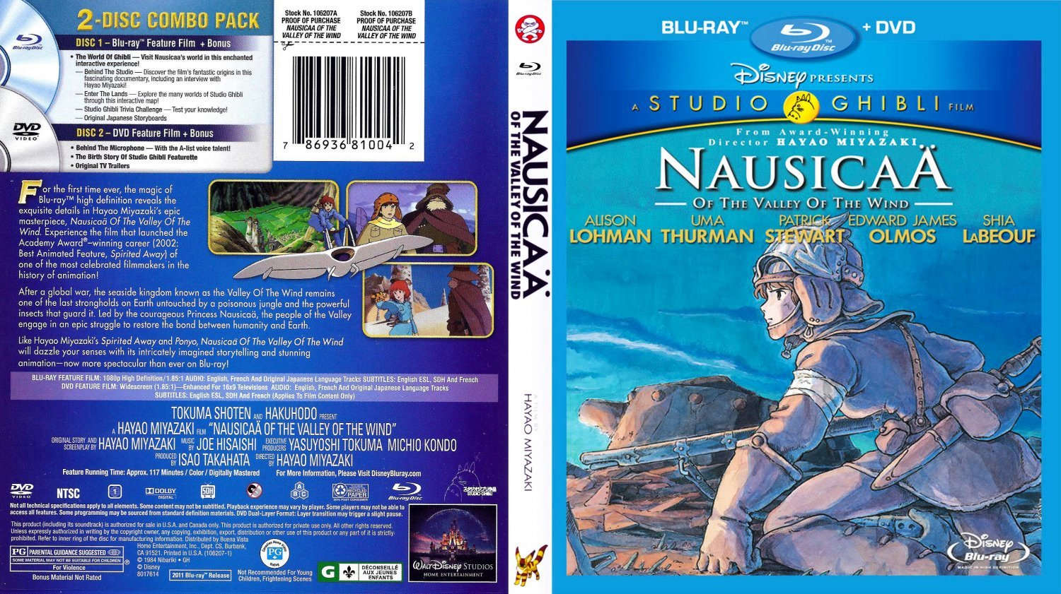 Nausicaa of the Valley of the Wind | Dvd Covers and Labels