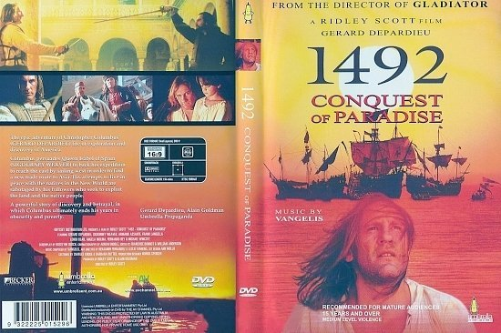 dvd cover 1492: Conquest Of Paradise (1992) R0