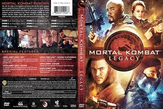 dvd cover Mortal Kombat Legacy: Season 1 (2011) WS R1