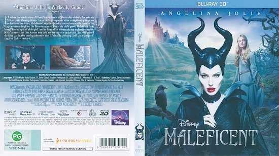 dvd cover Maleficent 3D Blu-Ray