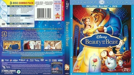dvd cover Beauty and the Beast (1991) Blu-Ray
