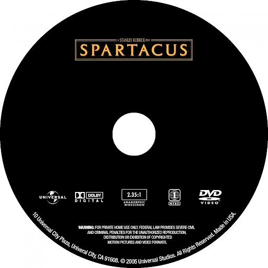 dvd cover Spartacus (1960) WS R1