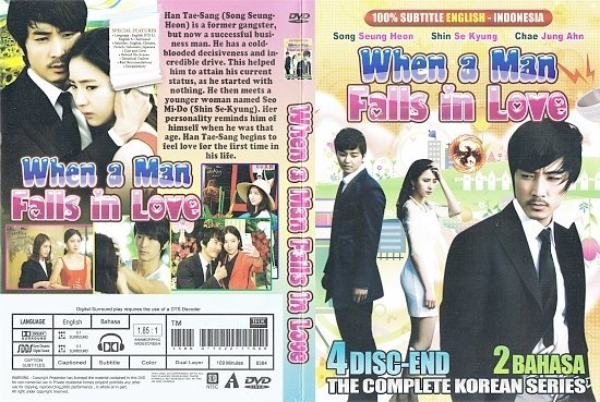 dvd cover When A Man Falls In Love: The Complete Series WS R1 Korea