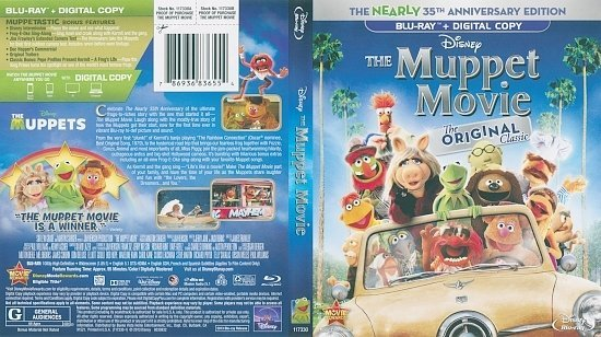 dvd cover The Muppet Movie (1979) Blu-Ray