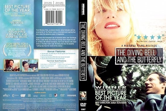 dvd cover The Diving Bell And The Butterfly (2007) R1