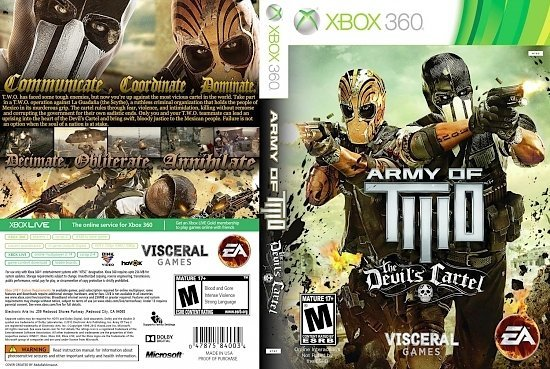 dvd cover Army of Two The Devils Cartel