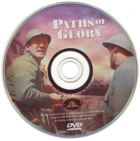 dvd cover Paths Of Glory (1957) R1