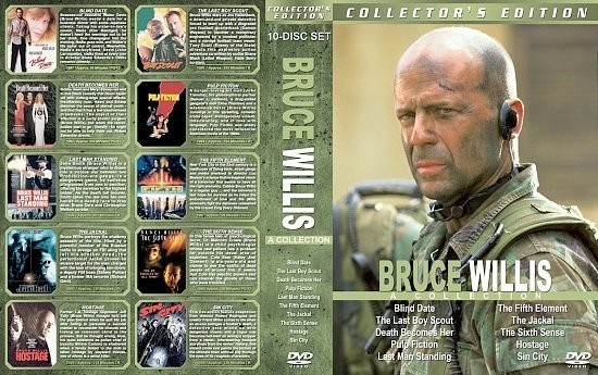 dvd cover Bruce Willis Collection