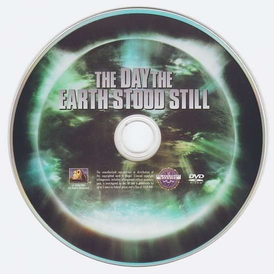 dvd cover The Day the Earth Stood Still (2008) WS R1