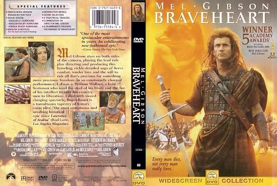 dvd cover Braveheart (1995) R1