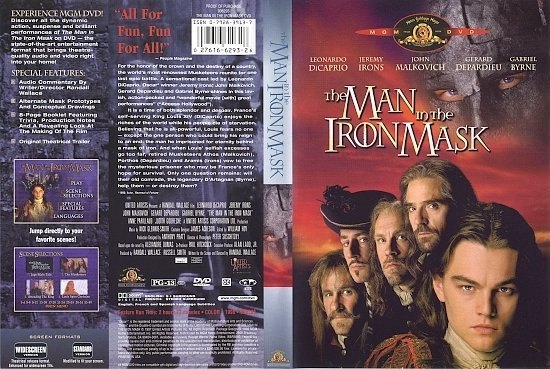 dvd cover The Man In The Iron Mask (1998) R1