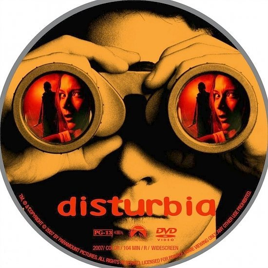 dvd cover Disturbia (2007) WS R1