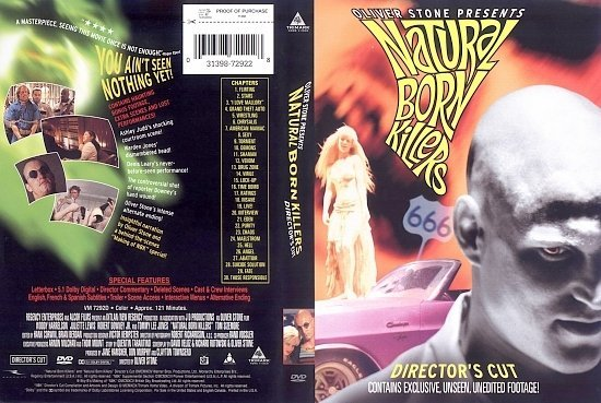 dvd cover Natural Born Killers (1994) WS DC R1