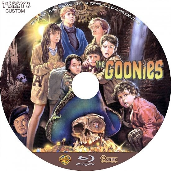 dvd cover The Goonies (1985) Blu-Ray DVD Label