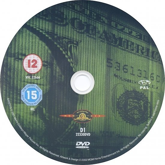 dvd cover Bandits (2001) R2