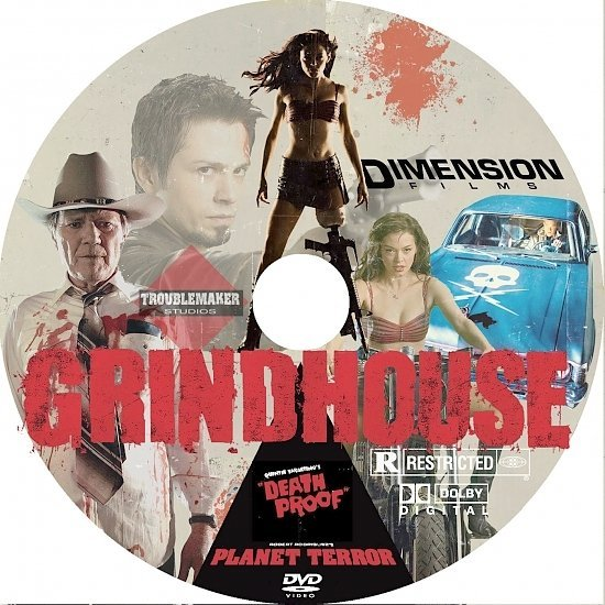 dvd cover Grindhouse: Planet Terror/Death Proof (2007) R1
