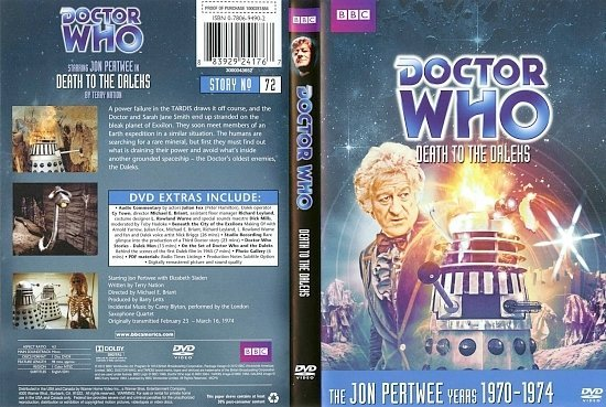 dvd cover Doctor Who Death to The Daleks