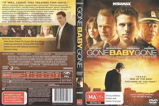 dvd cover Gone Baby Gone (2007) WS R4