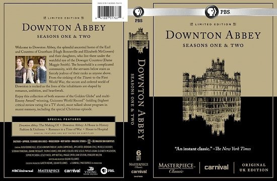 dvd cover Downton Abbey Seasons One & Two