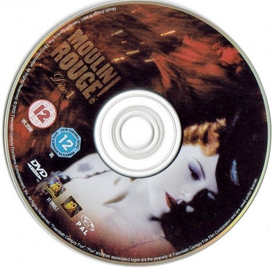 dvd cover Moulin Rouge (2001) R2