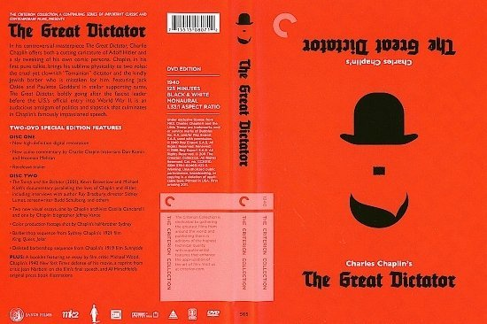dvd cover The Great Dictator (1940) CE R1