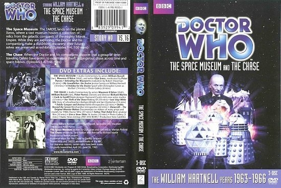 dvd cover Doctor Who The Space Museum And The Chase